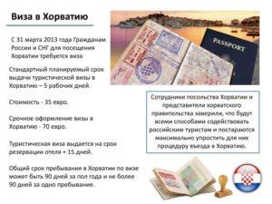 Оформление визы в Хорватию