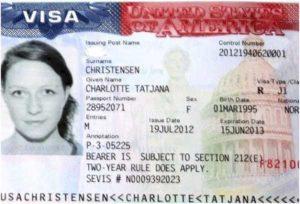Оформление визы в США